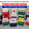 Sales Leads Contest Boxes for Drawings and Promotions