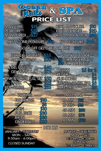 Ocean Nails Spa Services in Southern Shores NC