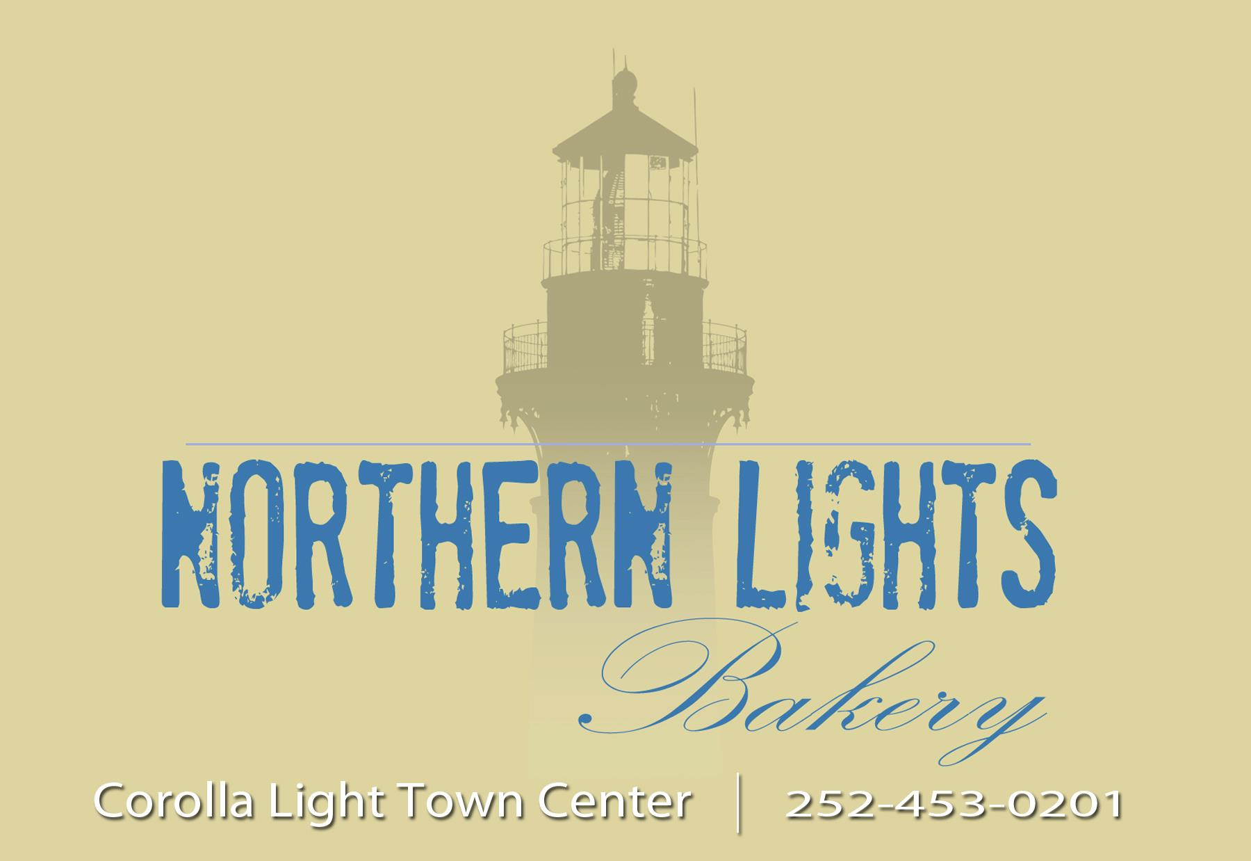 Northern Lights Bakery Corolla Light Town Center  1159 Austin St. #109A Corolla, North Carolina 27927 Bakery 252-453-0201 or Mobile 480-277-5499