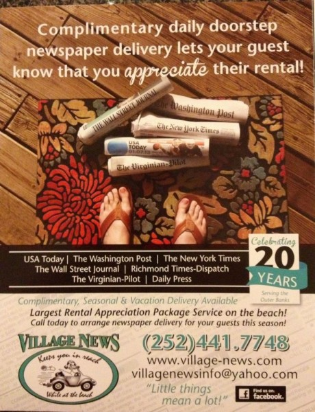 Outer Banks Newspaper Delivery