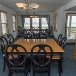Kill Devil Hills Oceanfront Rental, Dining area, Blue Crush with Carolina Designs